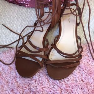 🌸OFFERS?🌸 Bamboo Lace-Up Sandals